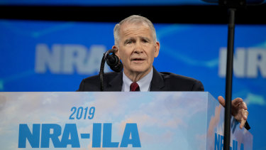 President of the National Rifle Association Oliver North says he will not serve a second term in the job.