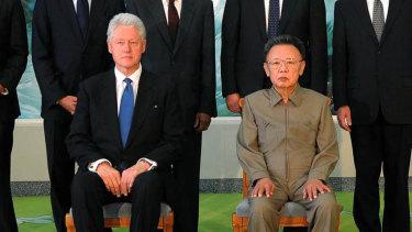 Bill Clinton meets Kim Jong-il in Pyongyang in 2009.
