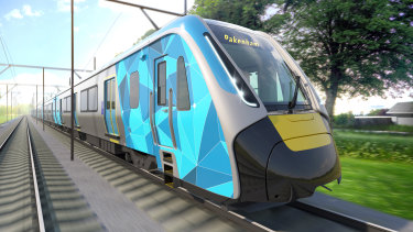 An artist's impression of the High Capacity Metro Trains (HCMT).