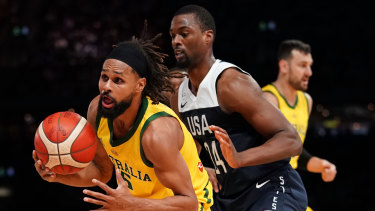 Patty Mills (left) and the Boomers will be up against a much tougher US team next year.