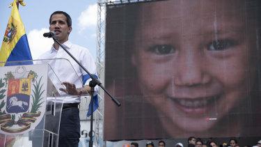Juan Guaido at a rally this month.