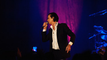 Nick Cave in Melbourne in 2014.