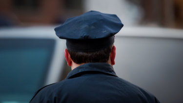 A New York Police Department officer.