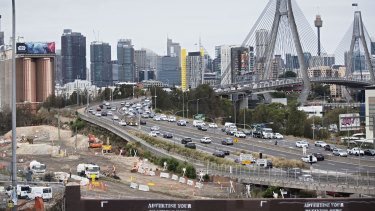 The WestConnex tollroad is not due to be finished until 2023.