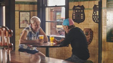 """Paul Hogan and John """"Strop"""" Cornell in the new ad."""