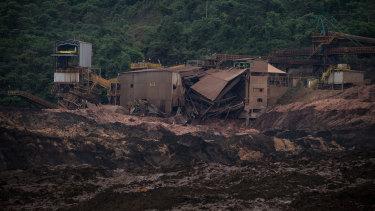 The scene of the Vale SA dam burst in Brumadinho, Brazil.