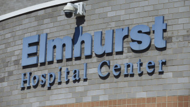 Elmhurst Hospital Centre in the Queens borough of New York, US.