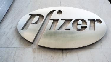 Pfizer headquarters in New York, US.