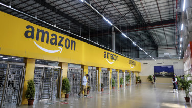 Amazon shares crossed $US3000 for the first time.