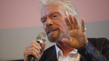 """I enjoy every minute of my life and the variety of what we do"": Virgin Atlantic chief Richard Branson."