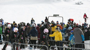 """Snow resorts are wary of """"uncontrolled"""" crowds when they reopen."""