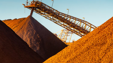 There's been a temporary surge in the price we're getting for our iron ore.