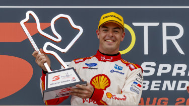 Scott McLaughlin was made to work for his win on Sunday, dropping to third behind Will Davison and Jamie Whincup on the opening lap.