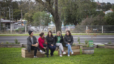 The Let's Make a Park group created a pop-up park in a traffic island.