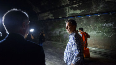 """Transport Minister Andrew Constance said """"the time is right"""" to open up the tunnels to the public."""