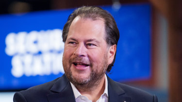 Salesforce CEO Marc Benioff. The deal would be the company's biggest-ever and comes after it acquired Tableau last year.