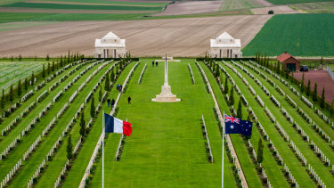 The Australian National Memorial and newly opened Sir John Monash Centre sit just outside Villers-Bretonneux.