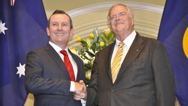WA Premier Mark McGowan and the state's governor, Labor stalwart Kim Beazley.