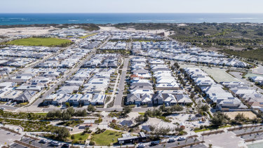 "Alkimos Beach is a ""master plan"" community 42 kilometres north of Perth's centre."