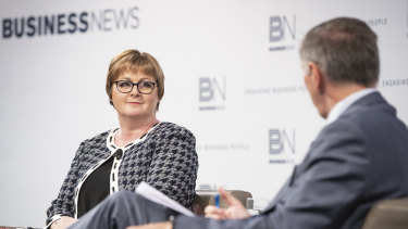 Australian Defence Minister Linda Reynolds during the Business News breakfast.