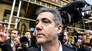 Michael Cohen, former personal lawyer to Donald Trump, leaves his Manhattan apartment bound for prison.