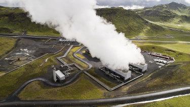 The Hellisheidi geothermal power plant.