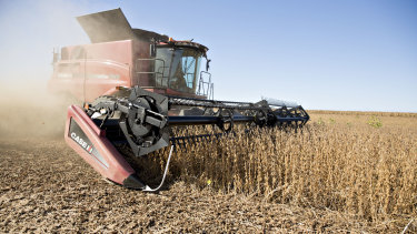 Soybeans are the biggest US agricultural export to China.