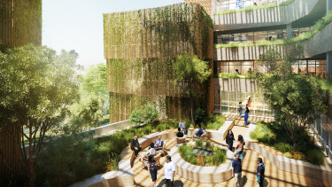 Artists impressions of what Australia's first indigenous residential college at UTS might look like.