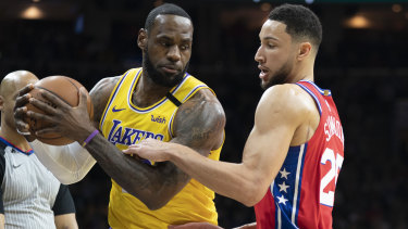 LeBron James has picked Ben Simmons in his All-Star team.