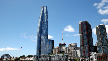 Crown Resorts gleaming $2.2 billion casino and luxury resort that sits on Sydney's foreshore.