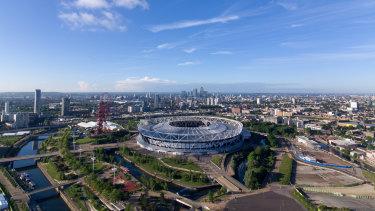 London's Olympic stadium.