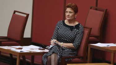 One Nation leader Pauline Hanson is in the box seat on industrial relations.