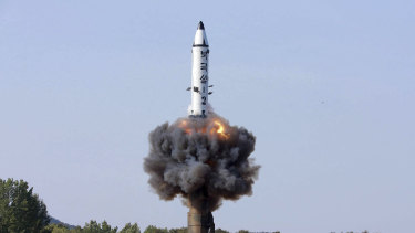 A North Korean missile test.
