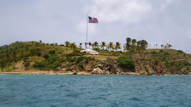 Epstein's private island in the Virgin Islands.