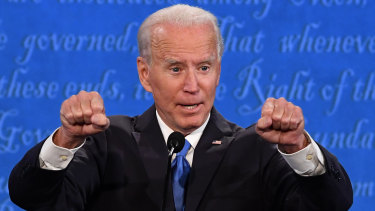 "Joe Biden talked about the ""empty chairs"" in people's homes because of the coronavirus."