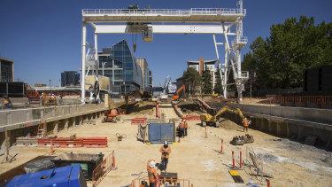 Work has begun for the new underground Parkville Station