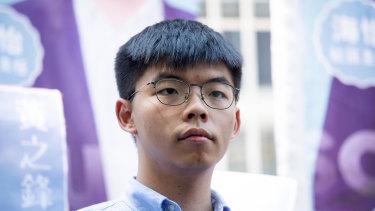 Hong Kong activist Joshua Wong.
