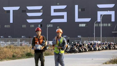 Tesla's rapid establishment and success of its China operations have helped push its share price higher.