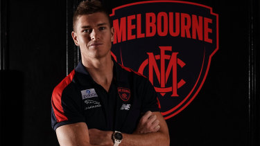 Adam Tomlinson made his first public appearance as a Demon this morning.