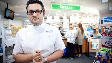 Pharmacist Anthony Tassone in his Narre Warren pharmacy.