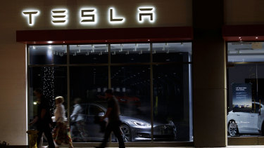 Since trading at $US900 earlier this year, Tesla shares have slumped by a third.