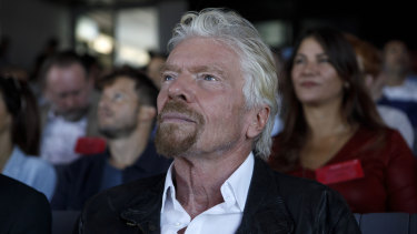 Richard Branson's net worth, estimated at $US5.1 billion by the Bloomberg Billionaires Index, has fallen more than $US2 billion since mid-February.
