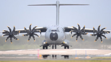 A German Air Force A400M was sent to Kabul.