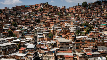 A slum in Caracas, Venezuela.