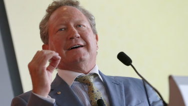 Fortescue chairman Andrew Forrest owns a 35 per cent stake in the company.