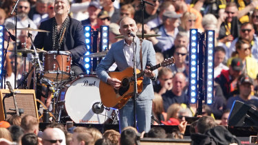 On song: Paul Kelly brings poetry and passion to the grand final entertainment.
