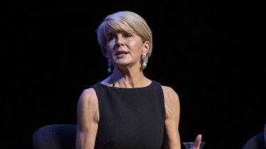 Guests at the exclusive Gold Dinner will be able to bid for dinner with former foreign minister Julie Bishop.