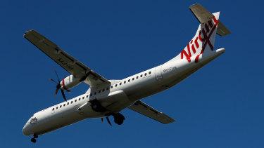 An ATR 72-600 aircraft operated by Virgin Australia.