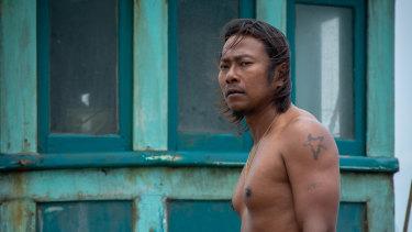 Thanawut Kasro plays the swaggeringly alpha captain Rom Ran in Buoyancy.