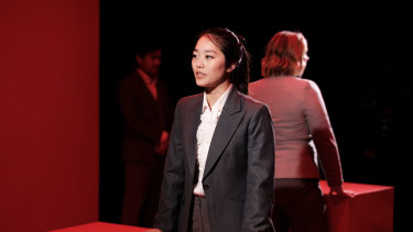 Helen Kim in Yellow Face, which packs an emotional punch that belies its modest setting.